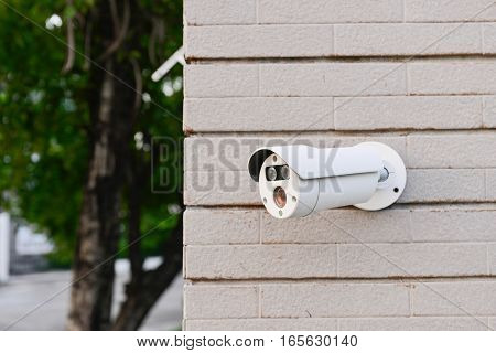 Closed-circuit camera - CCTV road on the wall