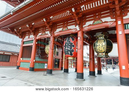 December 2016 in Tokyo Japan - Sensoji or Asakusa Kannon Temple