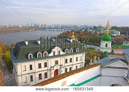 Kiev-Pechersk Lavra in autumn in Kyiv, Ukraine