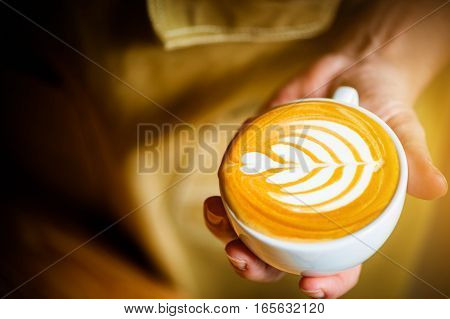 coffee latte art in cafe thailand good