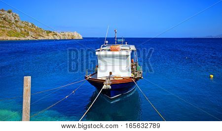 Yacht in the bay island of Zakynthos, Greece