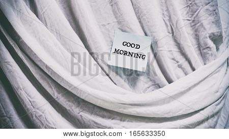 The Folds Of Cloth, Words On A Paper Sticker