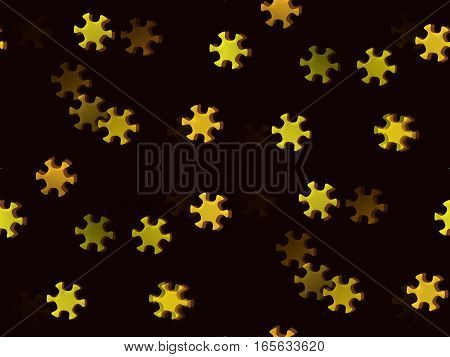 abstract background seamless colorful yellow star flower six petals of light and dark pattern
