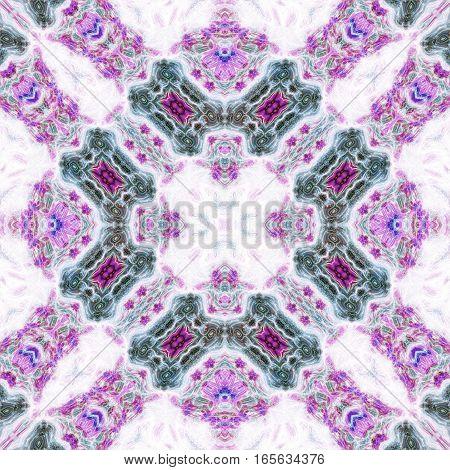 Symmetric ornamental oriental beautiful design image tile
