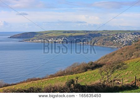 South coast of Cornwall and Looe Bay
