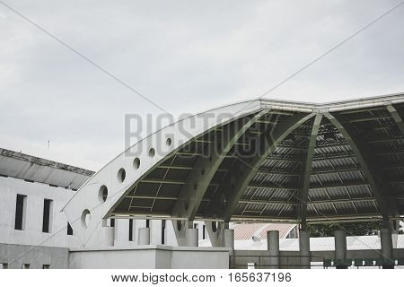 old roof tennis stadium , abstract background