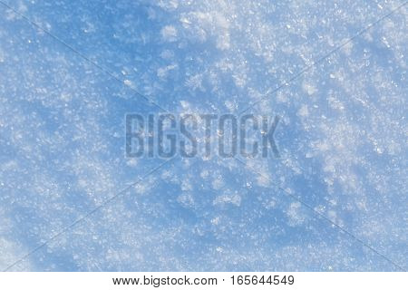Snow Background In Close Up