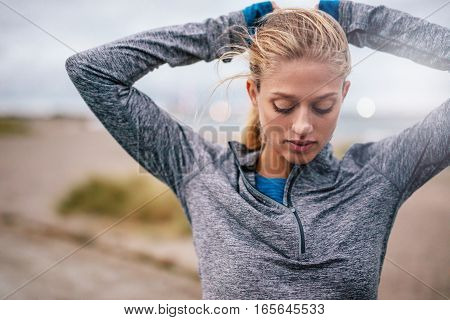 Young Woman Getting Ready For Training