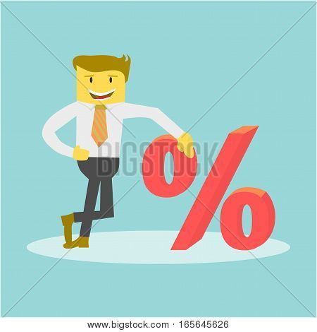 Businessman With Percent