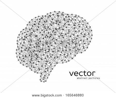 Abstract Vector Illustration Of Brain.