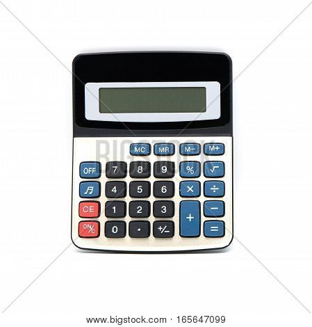 modern calculator isolated on a white background