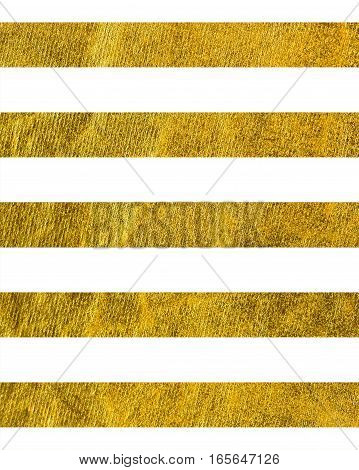Horizontal wide gold line with the Theme of love and Valentine's Day Idea for greeting card Rectangular orientation. Stripes of gold texture