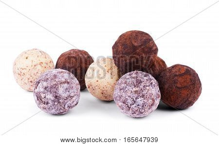 A collection of mixed chocolates and truffles
