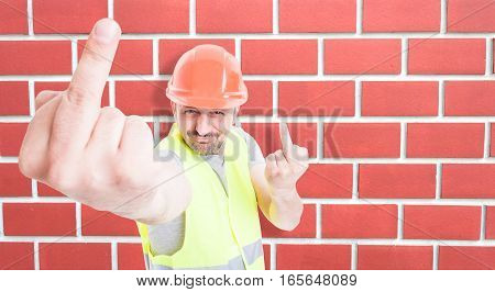 Male Builder Acting Sarcastic