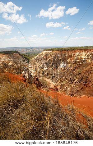 Ankarokaroka Canyon In Ankarafantsika, Madagascar