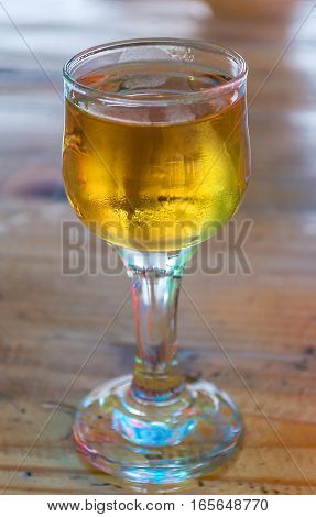 Nice cold glass of old brandy drink