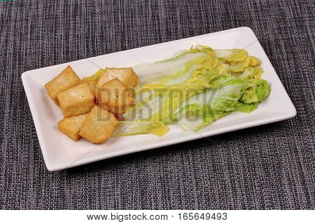Fried Chinese Cabbage With Tofu.