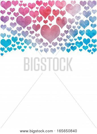 illustration Colorful heart Hearts were isolated from the background.love Valentines Day Heart Color Full