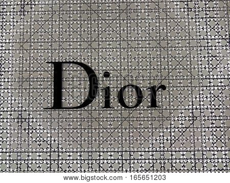 Signboard Of A Dior Boutique At The Mall