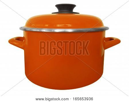 Saucepan Isolated - Orange