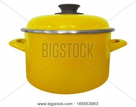 Saucepan Isolated - Yellow