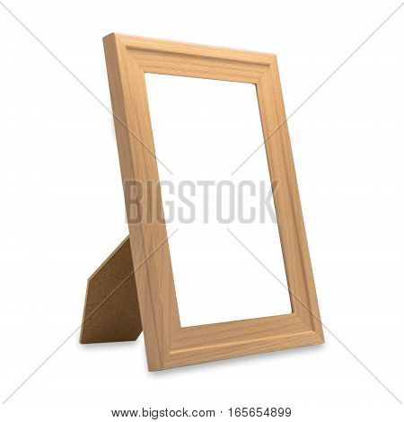 blank wooden frame isolated on a white background