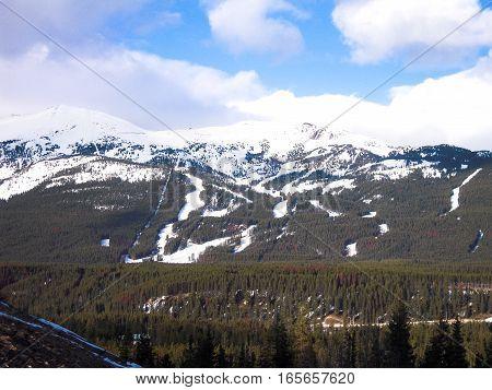 Lake Louise Ski Resort Canadian Rockies Alberta Canada