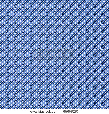 Blue simple stripes abstract seamless vector pattern, geometric primitive background