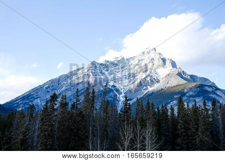 Cascade Mountain in Winter Canadian Rockies Alberta Canada