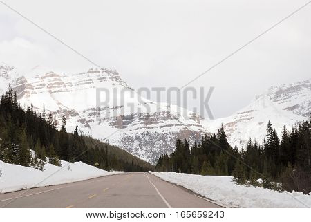 Icefields Parkway in Winter Banff National Park Canadian Rockies