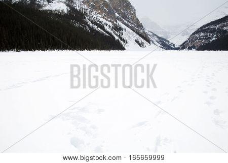 Lake Louise in Winter Banff National Park Canadian Rockies