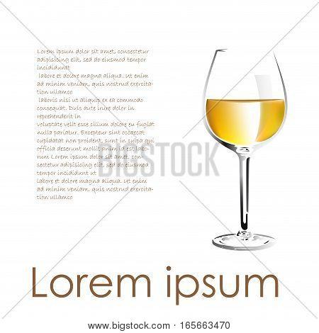 Vector white wine description for menu and cover