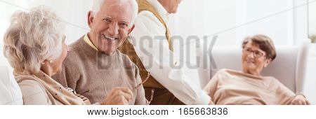 Group Of Elderly Friends