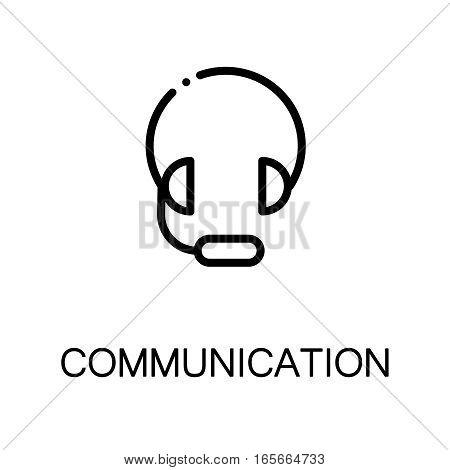 Headphone icon. Single high quality outline symbol for web design or mobile app. Thin line sign for design logo. Black outline pictogram on white background