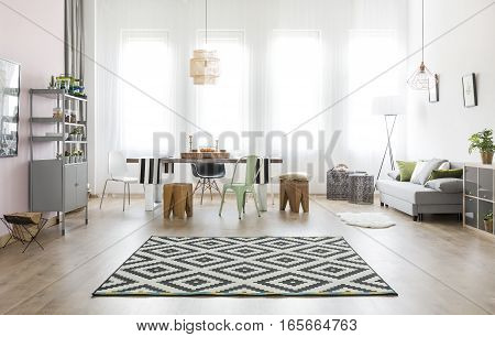 Room With Table And Sofa