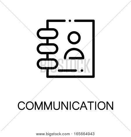 Contact book icon. Single high quality outline symbol for web design or mobile app. Thin line sign for design logo. Black outline pictogram on white background