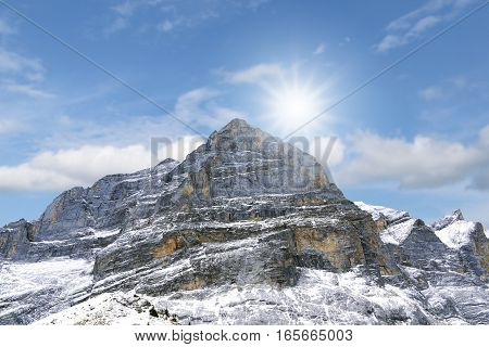 Alps Mountains In Winter