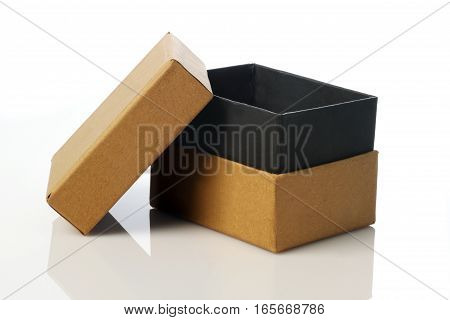 Recycle Card Board Box for Mockup on White Background