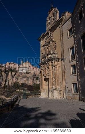 Parador De Cuenca. Saint Paul Monastery In The Outskirts Of Cuenca, In Spain, Xvi Century, On A Priv
