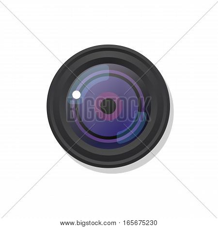 Photo camera symbol icon on white. Vector