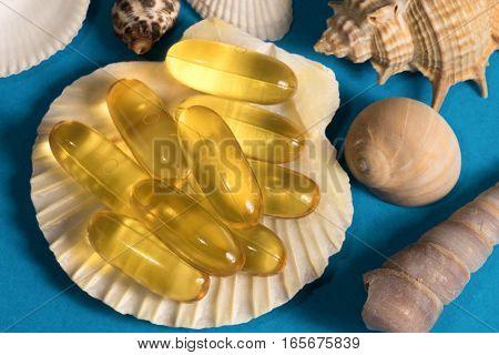 Vitamin Fish Oil - Omega Complex In Shell