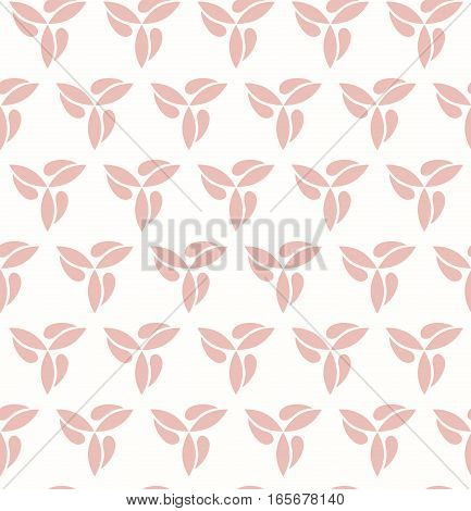 Seamless vector pink ornament. Modern background. Geometric pattern with repeating elements
