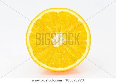 Juicy Orange On A White Background. Isolate.