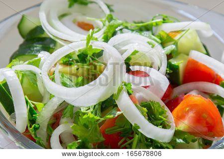 Delicious Summer Salad In The Plate