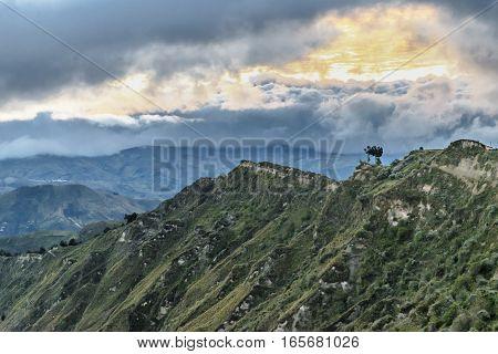 Quilotoa Crater Mountain Latacunga Ecuador