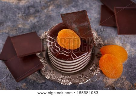 Chocolate Cake With Dried Apricots