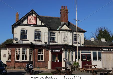 18TH JANUARY 2016, PORTSMOUTH,ENGLAND; The Thatched house which is an old public house in portsmouth,england