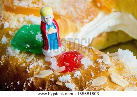 Roscon De Reyes And One Wise Men Figurine Melchor