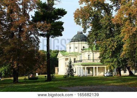 Kachanivka Palace with great architectural ensemble in the bright day