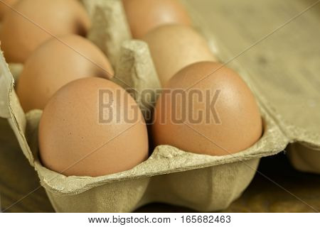 A carton of fresh free range eggs